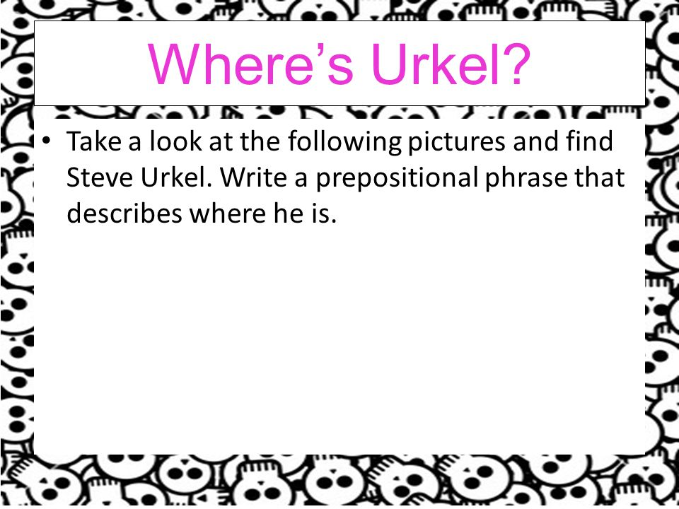 Where's Urkel. Take a look at the following pictures and find Steve Urkel.