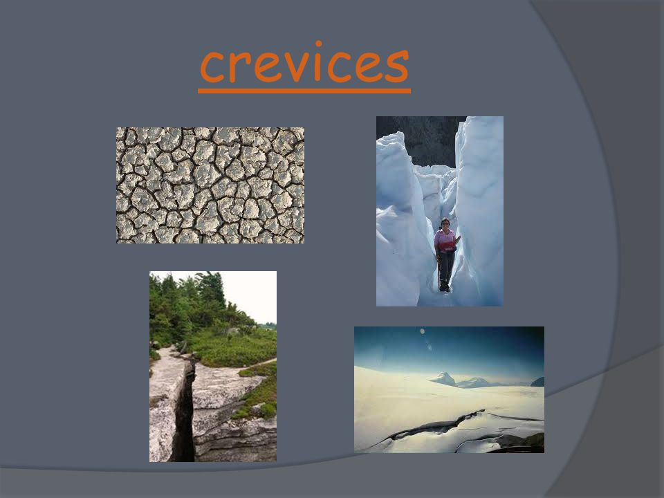 crevices