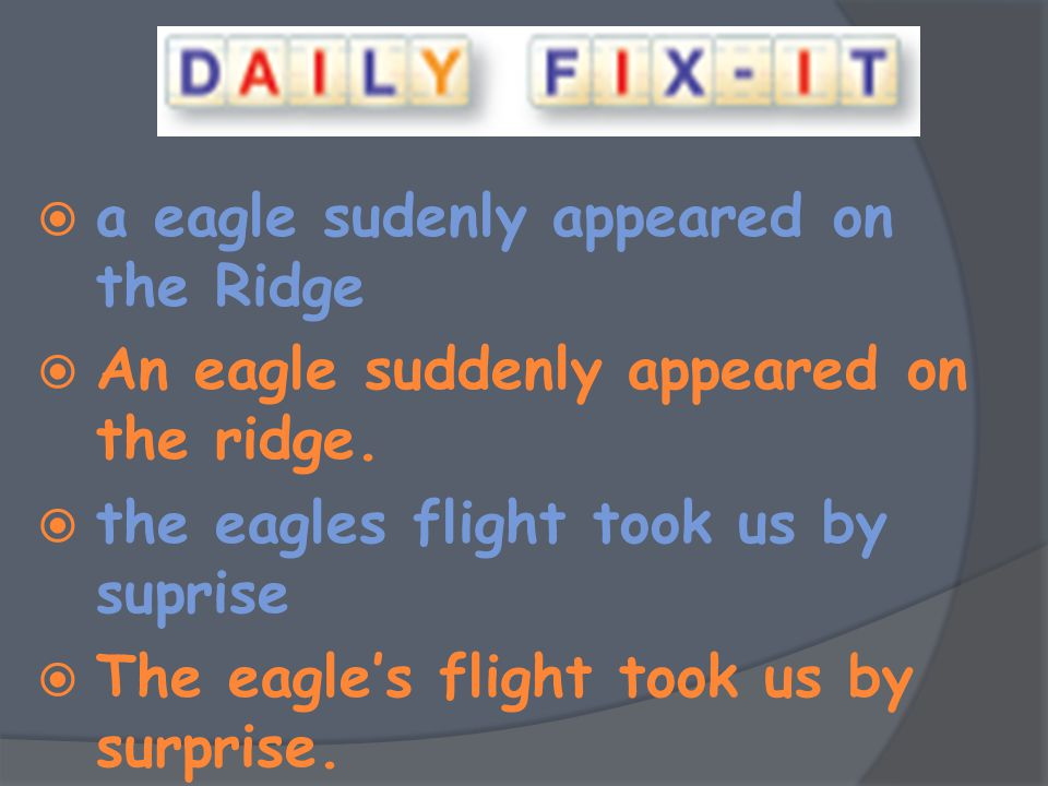 a eagle sudenly appeared on the Ridge