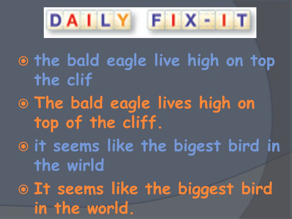 the bald eagle live high on top the clif