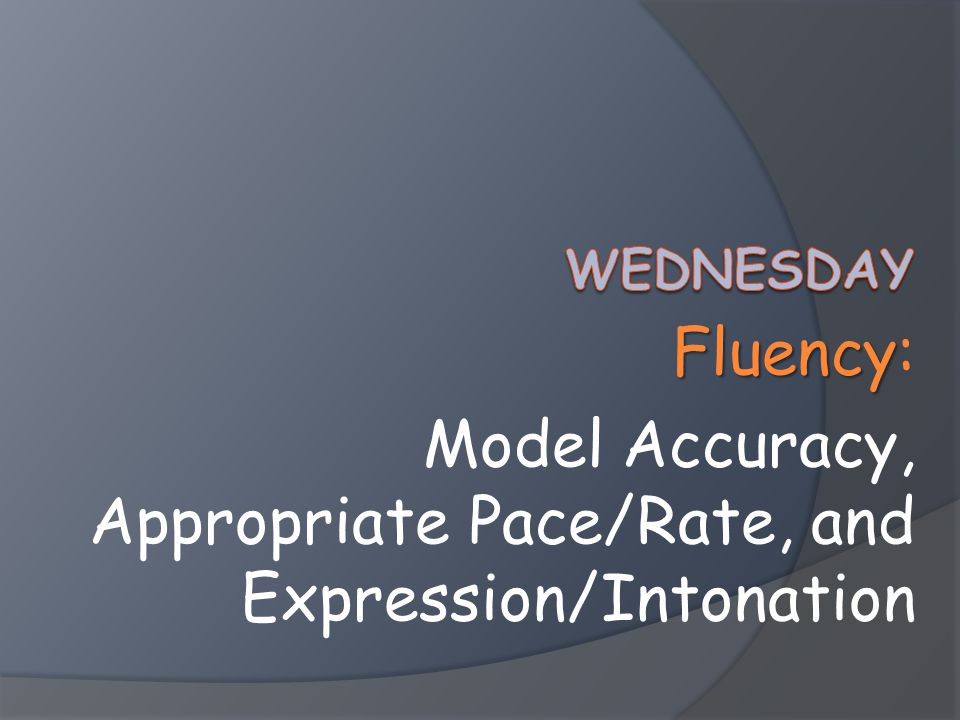 Model Accuracy, Appropriate Pace/Rate, and Expression/Intonation