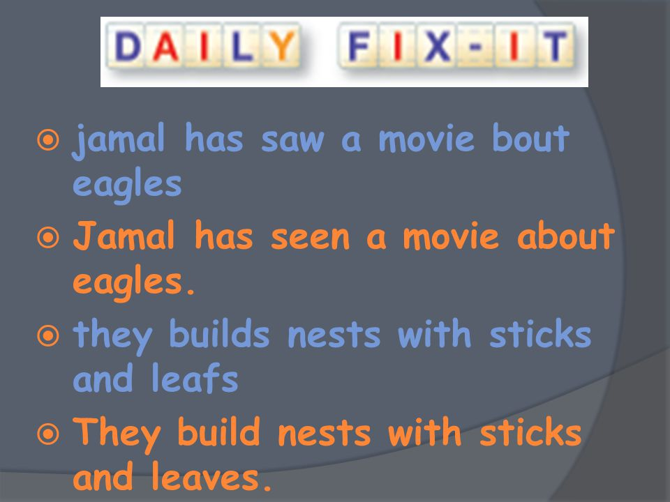 jamal has saw a movie bout eagles