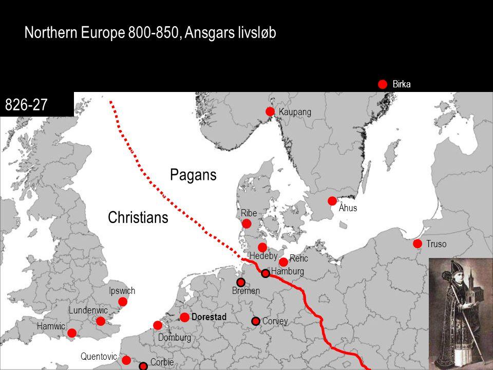 Northern Europe 800-850, Ansgars livsløb