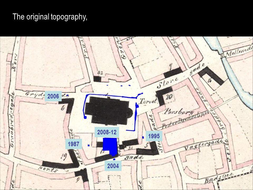 The original topography,