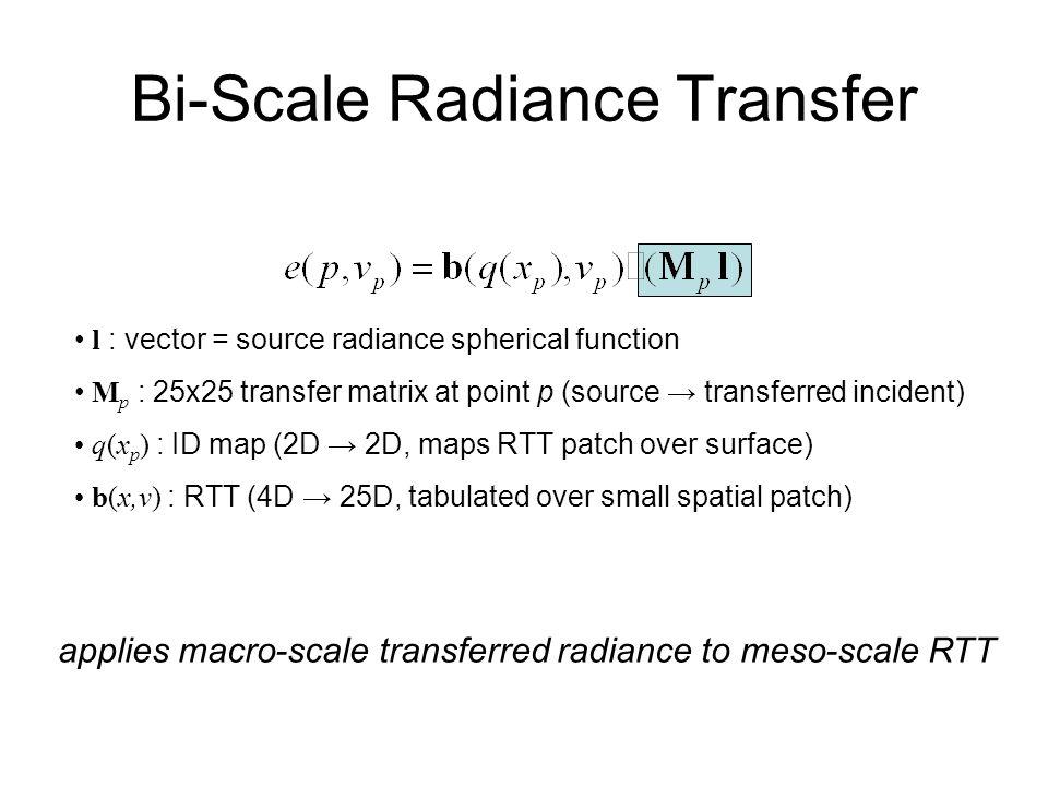 Bi-Scale Radiance Transfer