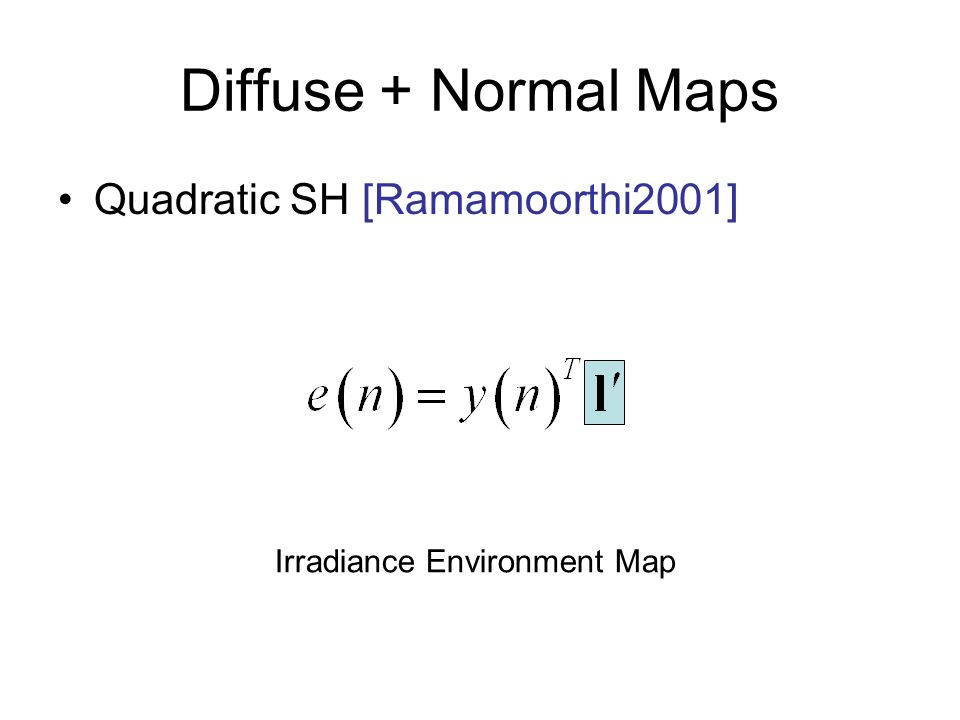 Irradiance Environment Map