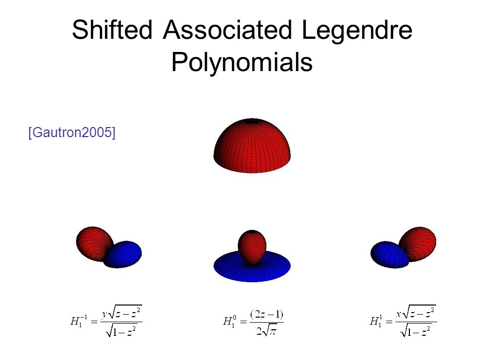 Shifted Associated Legendre Polynomials