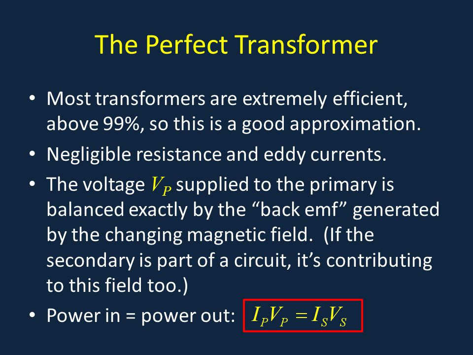 The Perfect Transformer