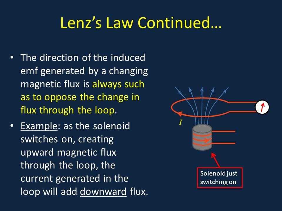 Lenz's Law Continued…