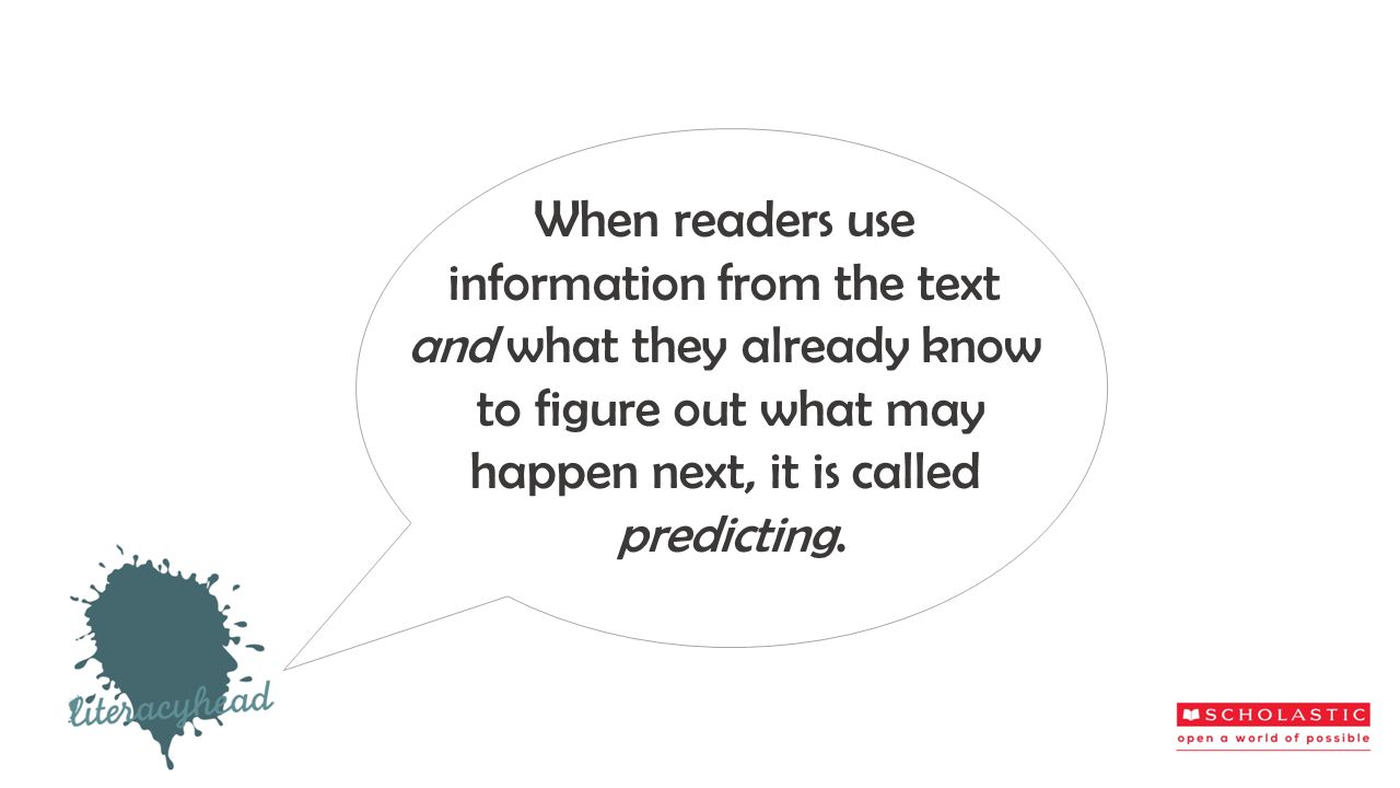 information from the text and what they already know