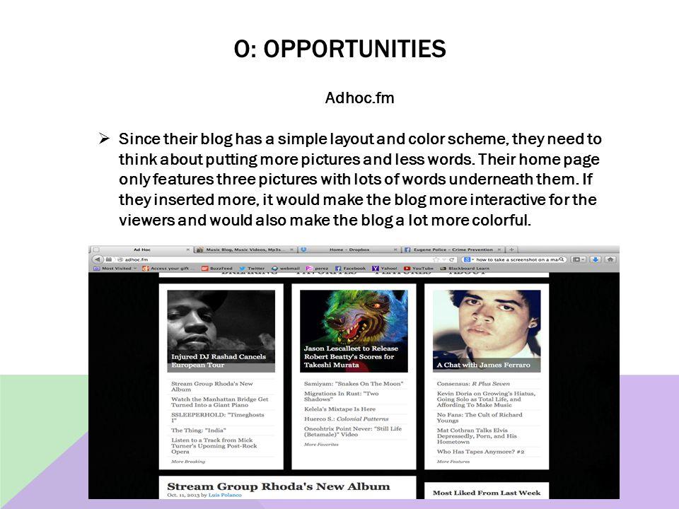 O: opportunities Adhoc.fm