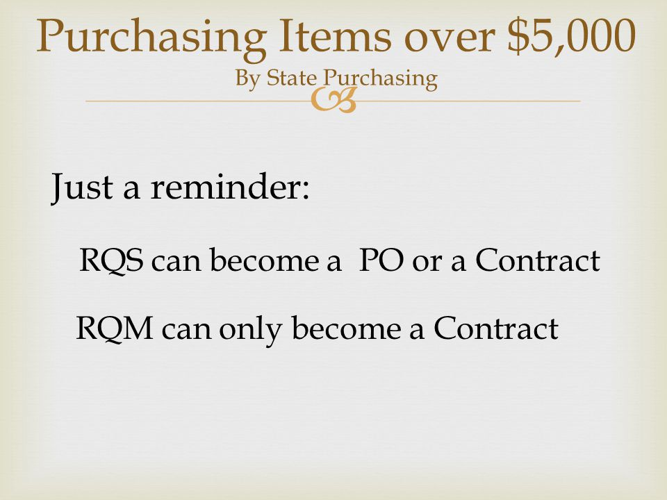 Purchasing Items over $5,000 By State Purchasing