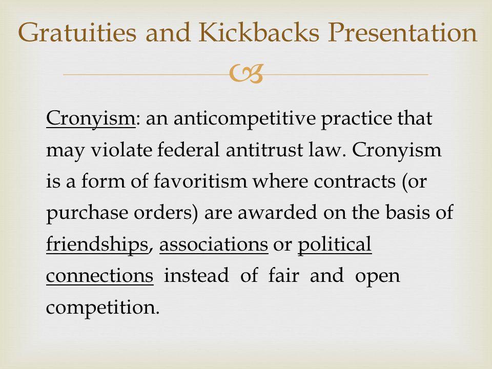 Gratuities and Kickbacks Presentation