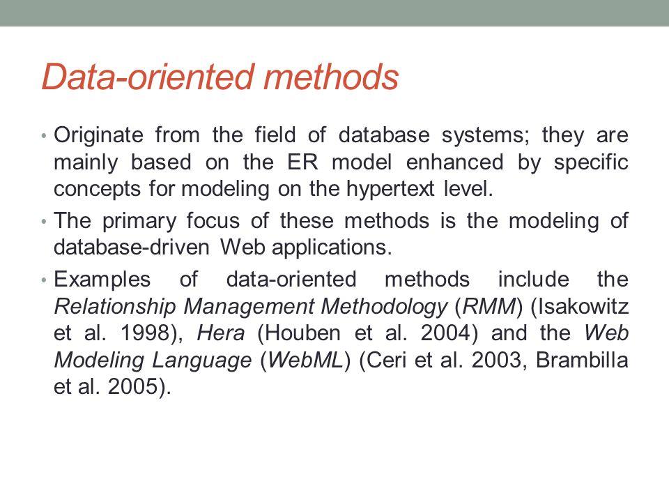 Data-oriented methods