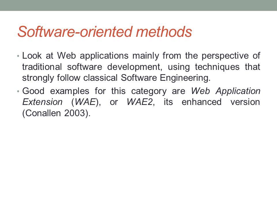 Software-oriented methods