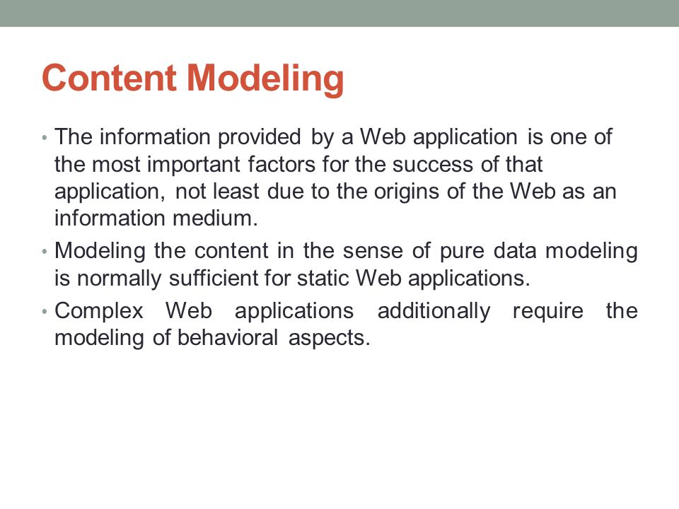 Content Modeling