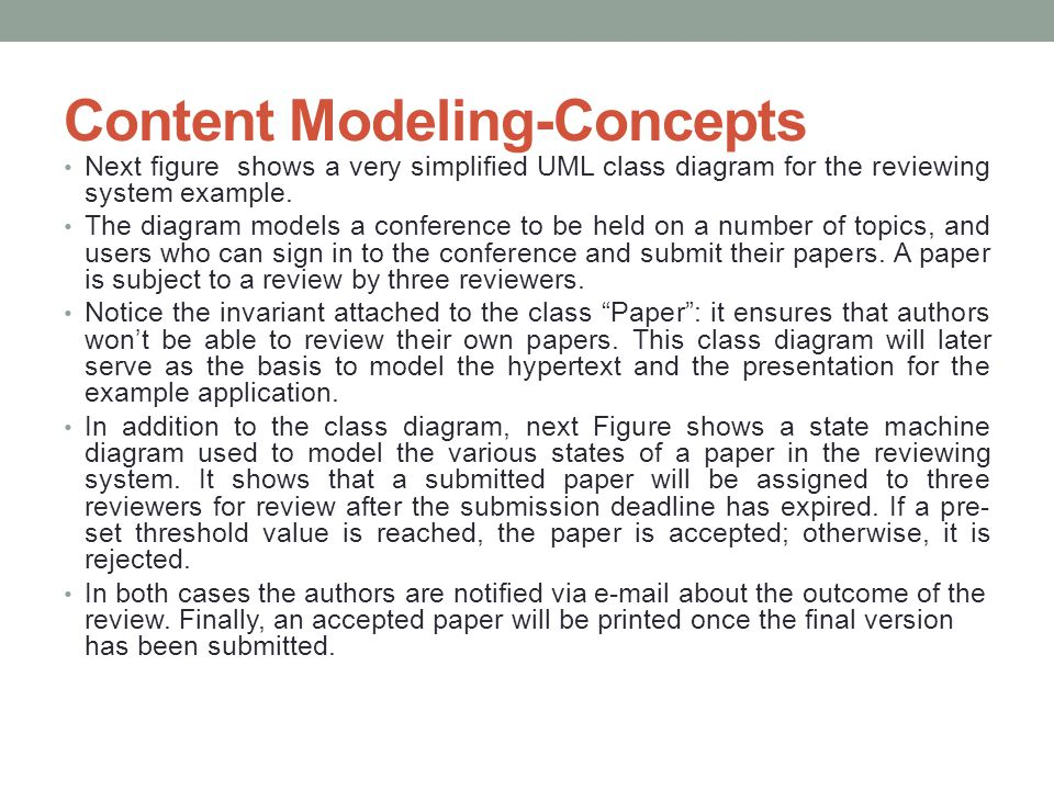 Content Modeling-Concepts