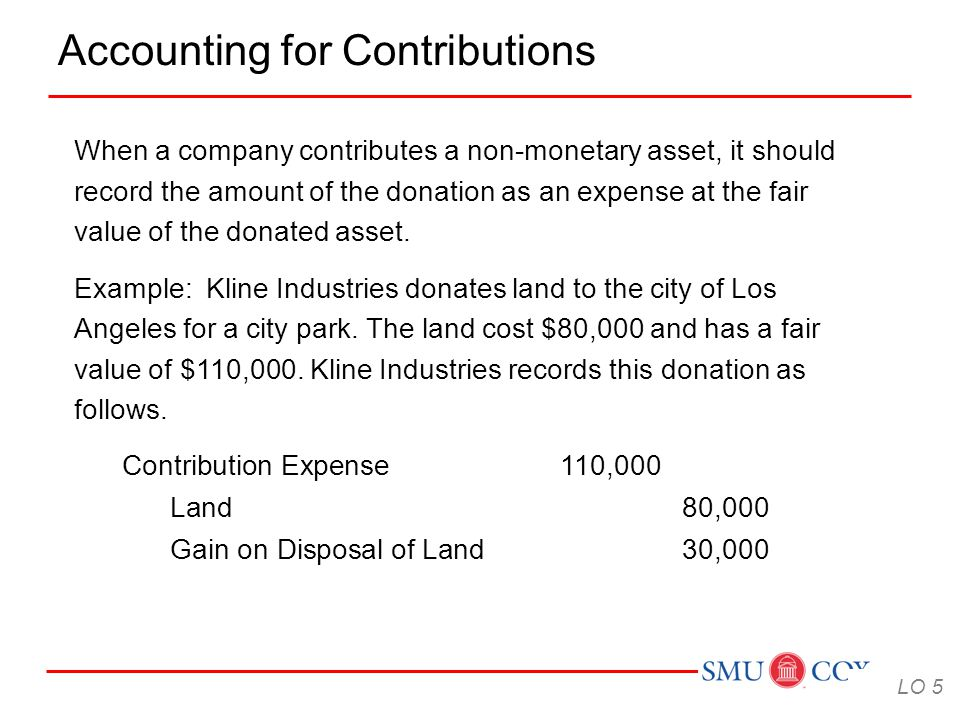 Accounting for Contributions