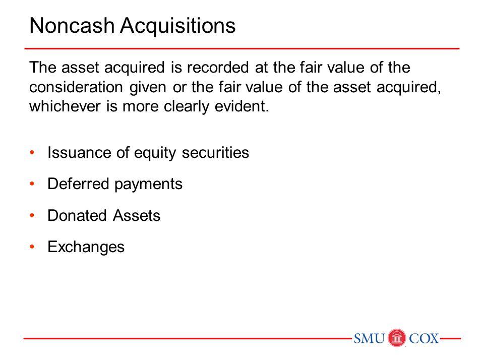 Noncash Acquisitions