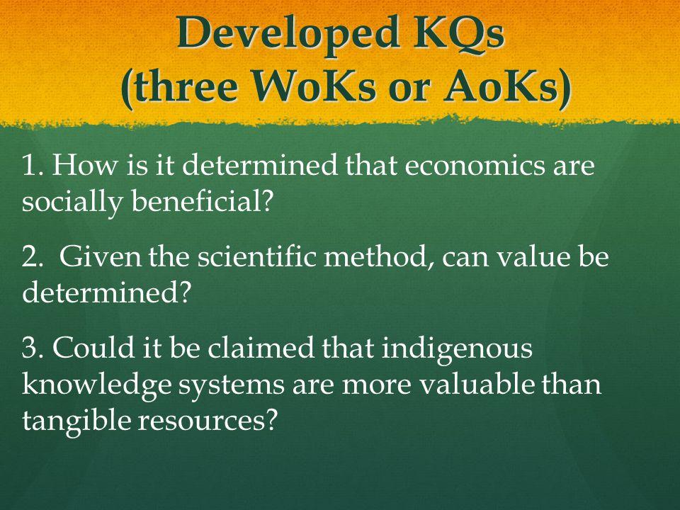 Developed KQs (three WoKs or AoKs)