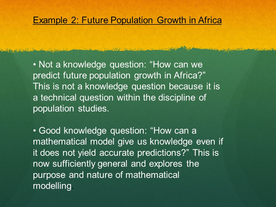 Example 2: Future Population Growth in Africa