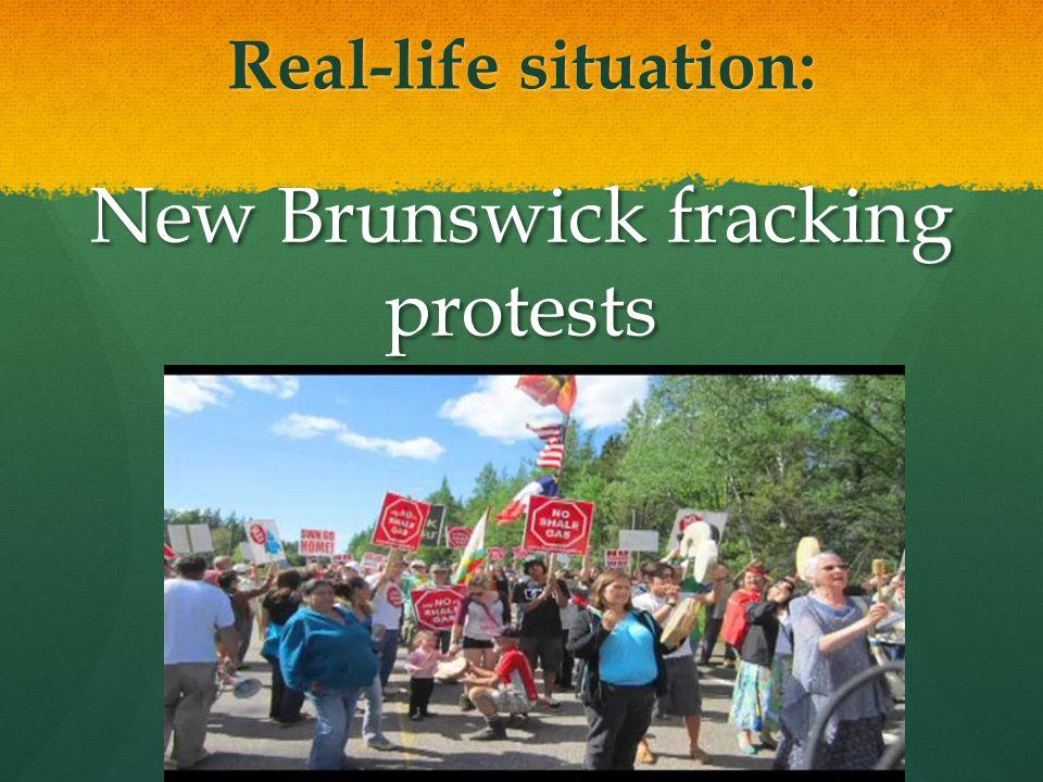 New Brunswick fracking protests
