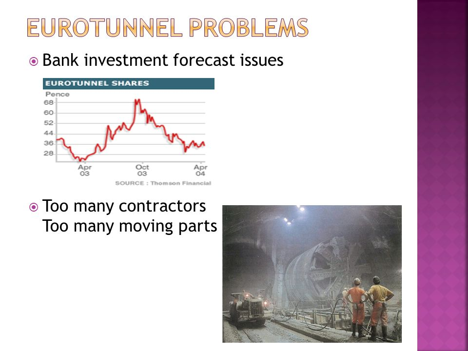 Eurotunnel Problems Bank investment forecast issues