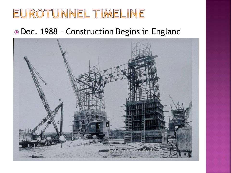 Eurotunnel TimeLine Dec. 1988 – Construction Begins in England