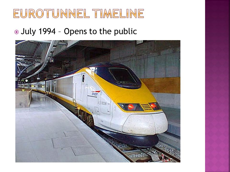 Eurotunnel TimeLine July 1994 – Opens to the public