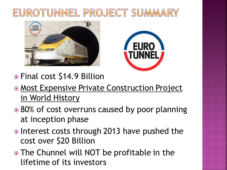 Eurotunnel Project Summary