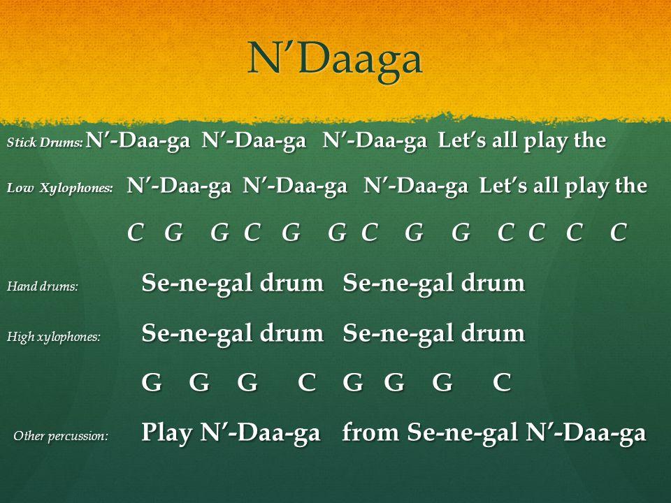 N'Daaga C G G C G G C G G C C C C G G G C G G G C