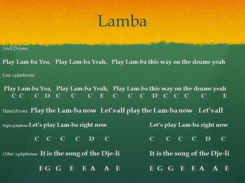 Lamba E G G E E A A E E G G E E A A E