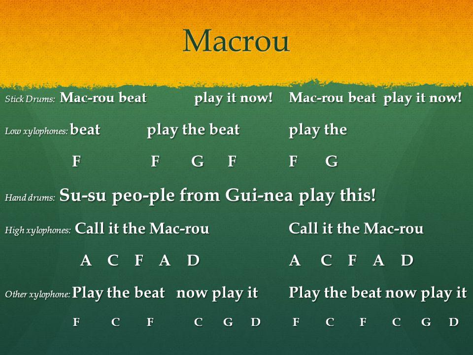 Macrou F F G F F G A C F A D A C F A D