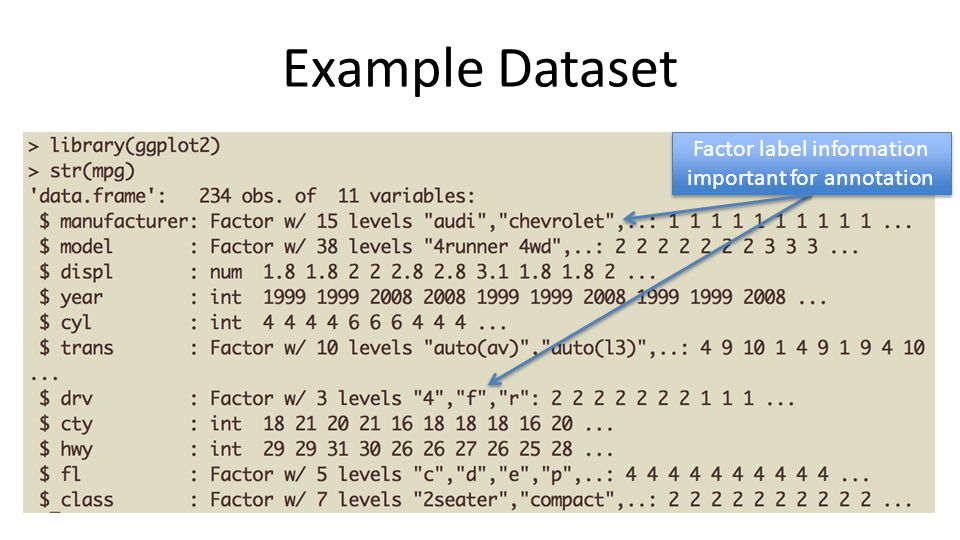 Factor label information important for annotation