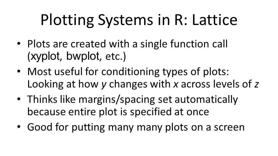 Plotting Systems in R: Lattice