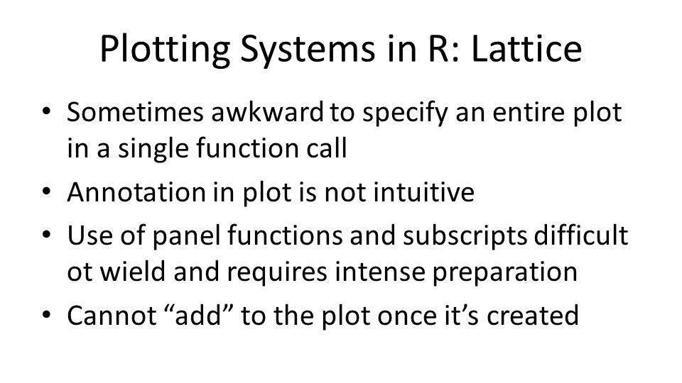 Plotting Systems in R: Lattice