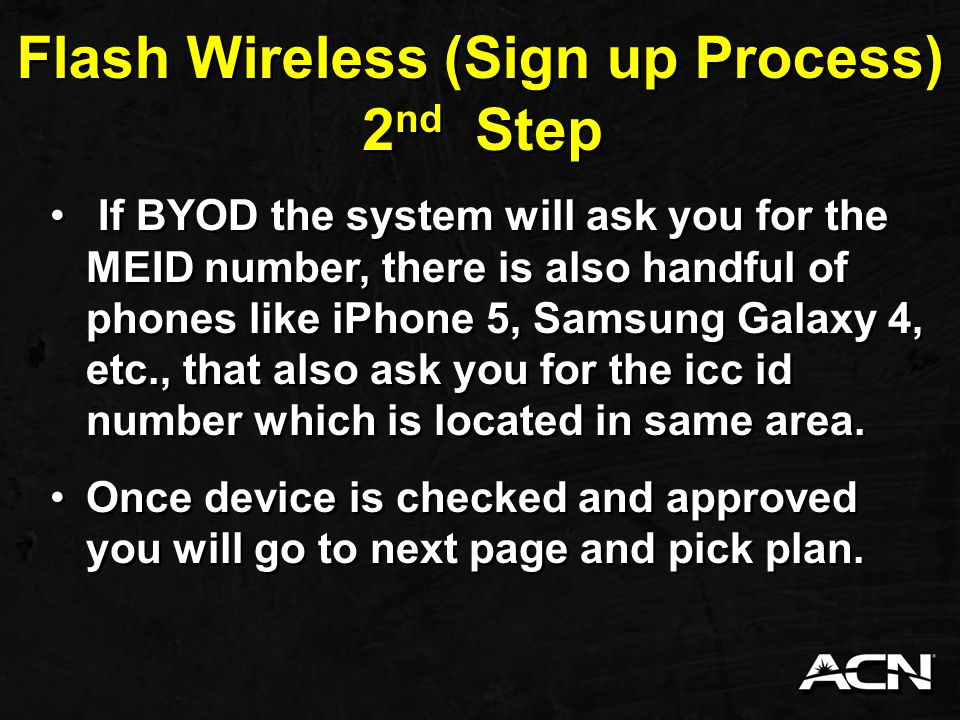 Flash Wireless (Sign up Process)