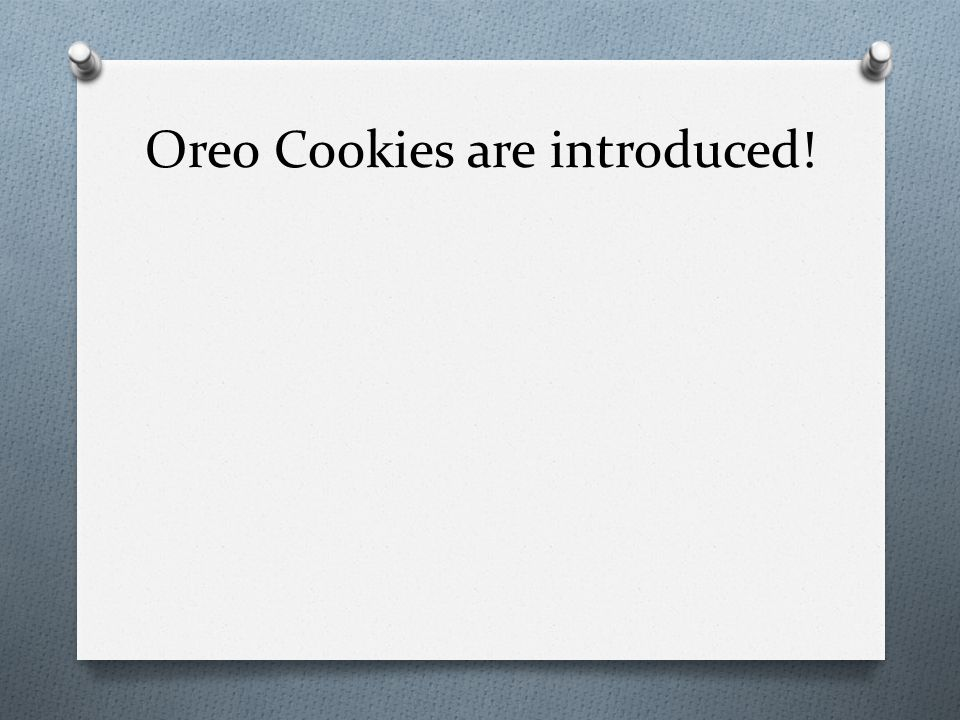 Oreo Cookies are introduced!