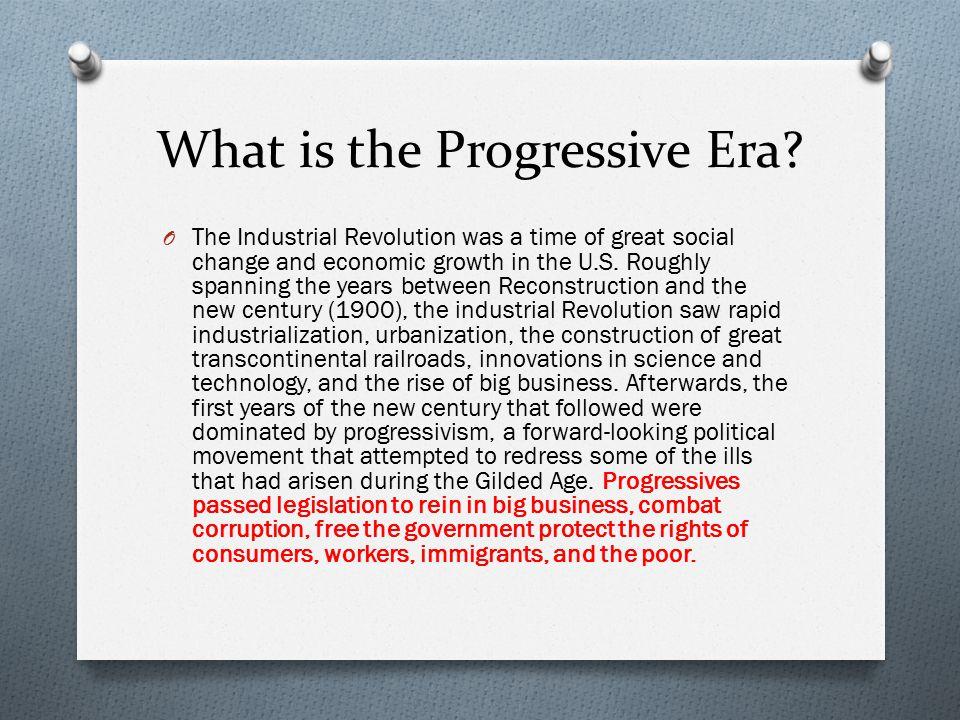 What is the Progressive Era
