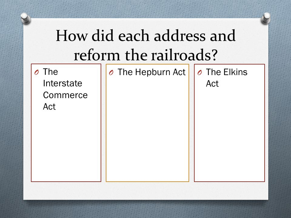How did each address and reform the railroads