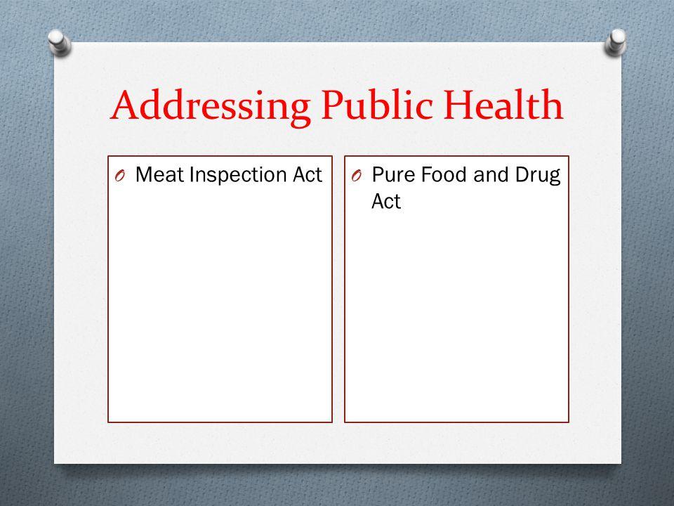 Addressing Public Health