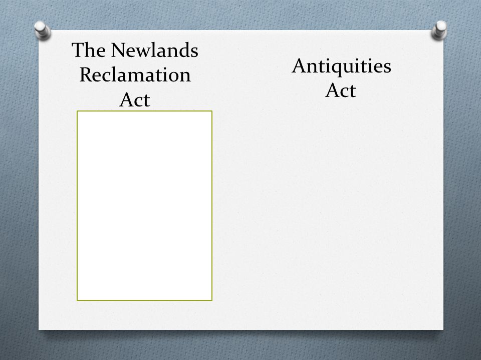 The Newlands Reclamation Act