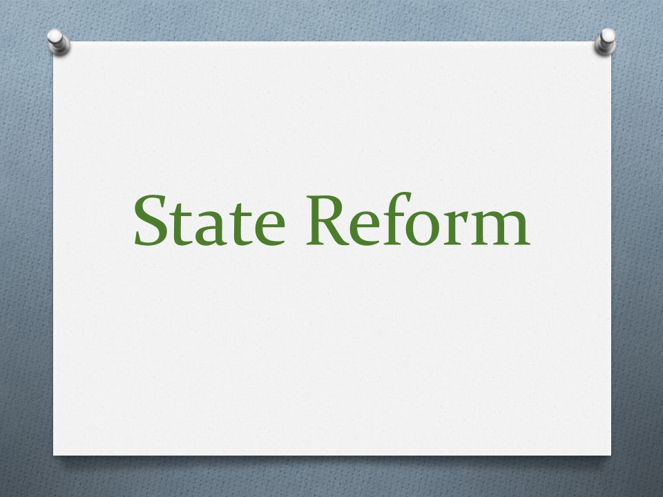 State Reform