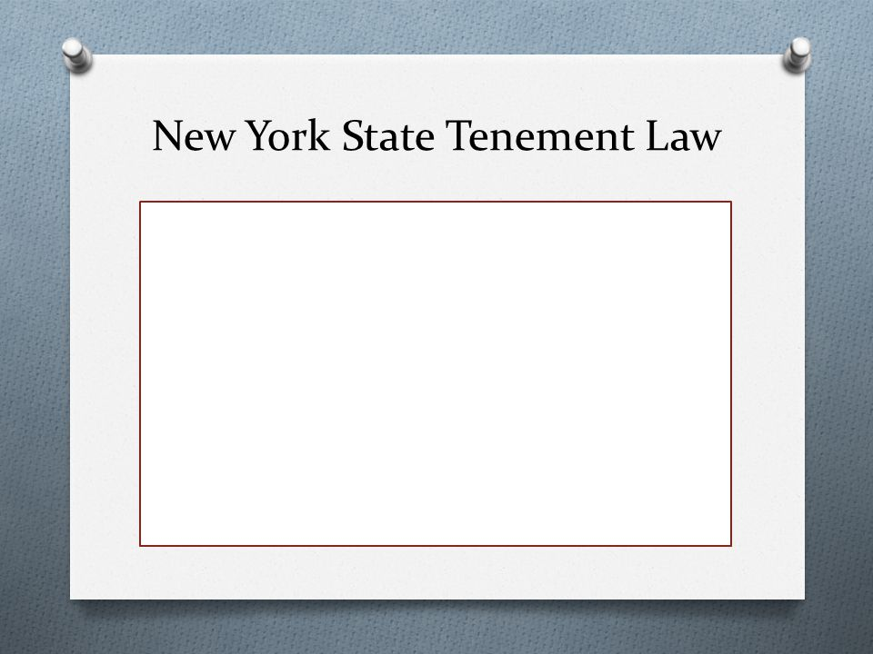 New York State Tenement Law