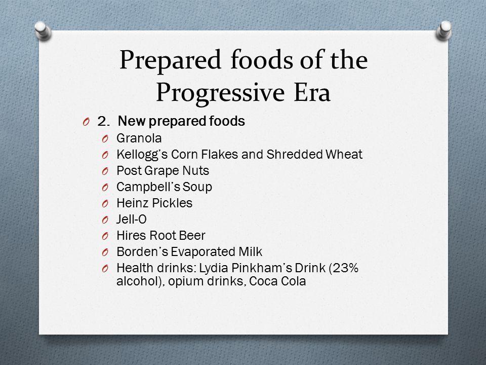 Prepared foods of the Progressive Era
