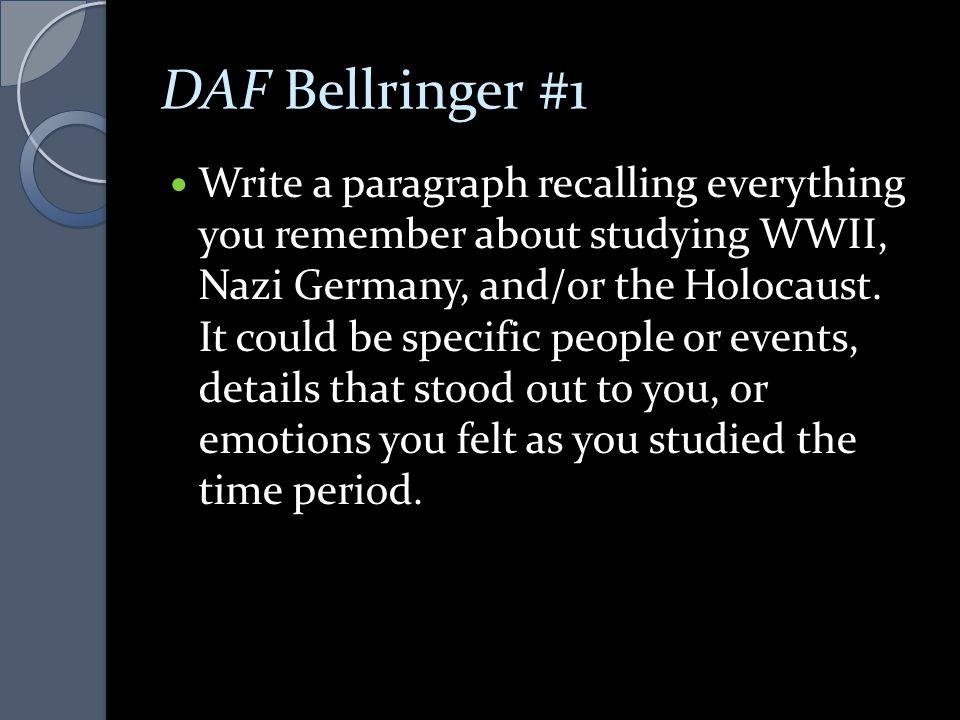 DAF Bellringer #1