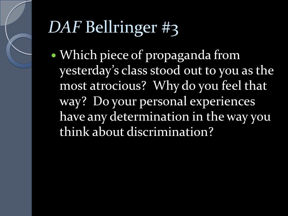 DAF Bellringer #3