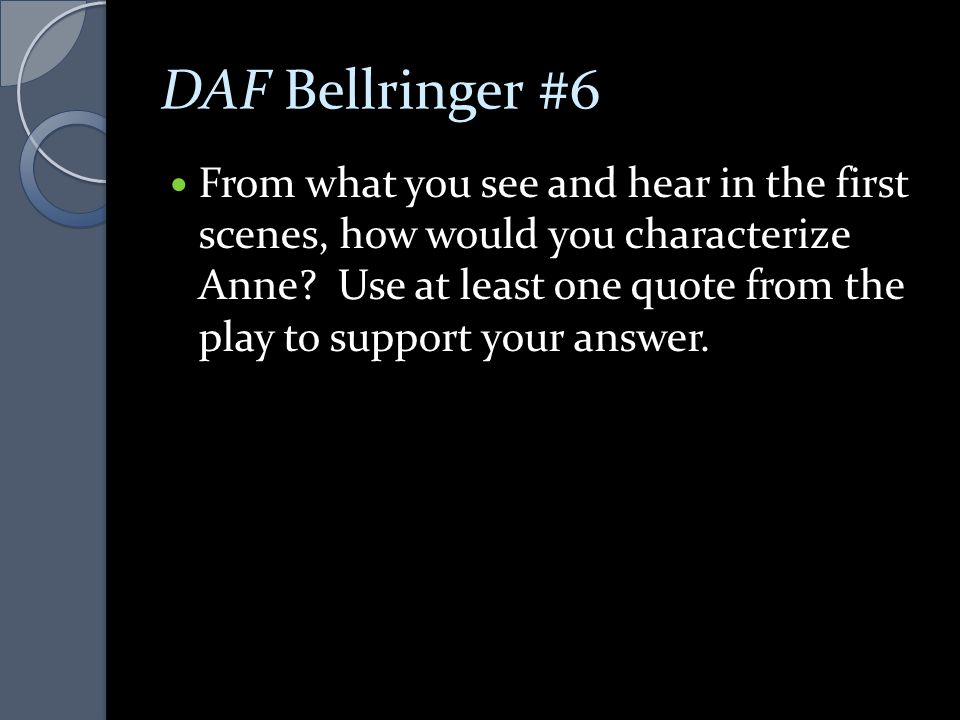 DAF Bellringer #6