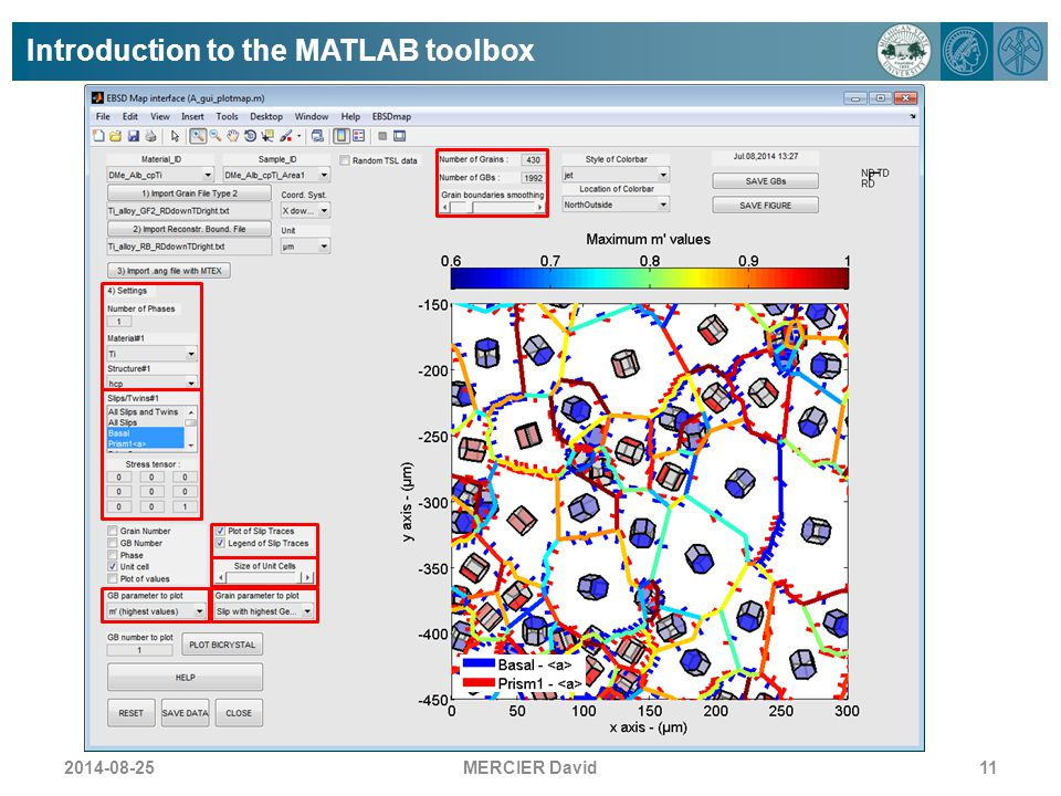 Introduction to the MATLAB toolbox