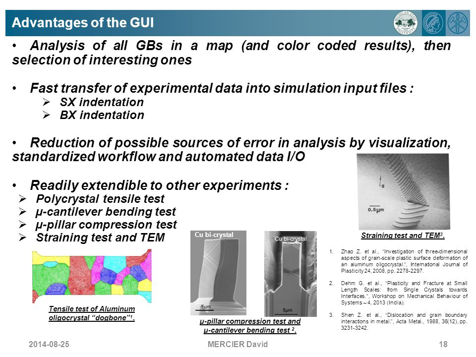 Fast transfer of experimental data into simulation input files :
